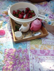 Time for a tea party on a warm evening